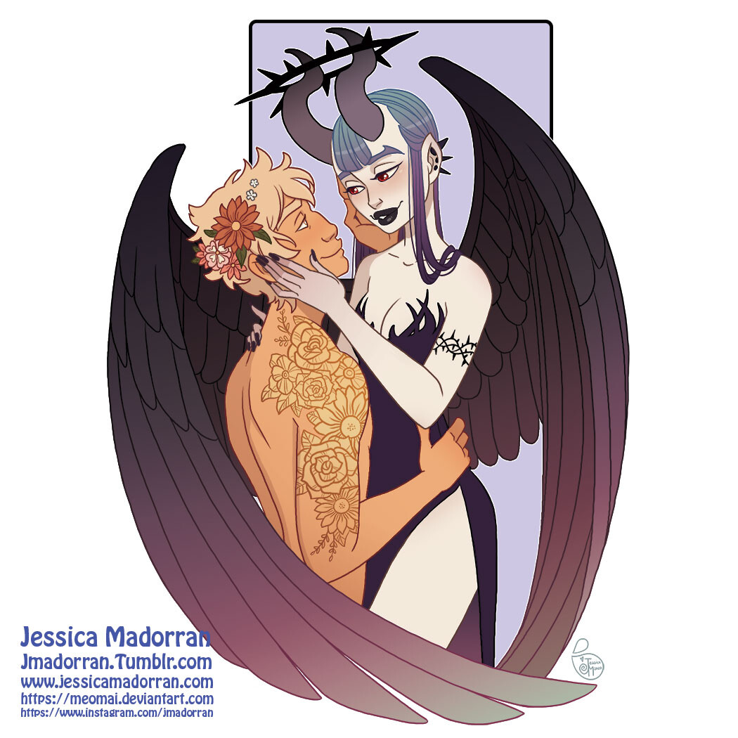 February 2021 Sticker Design - Persephone and Hades
