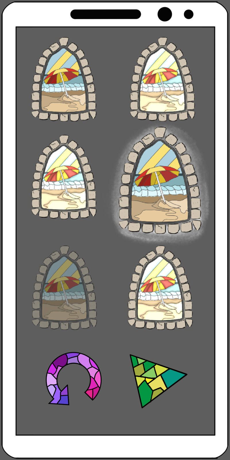 Selecting a window that represents a puzzle