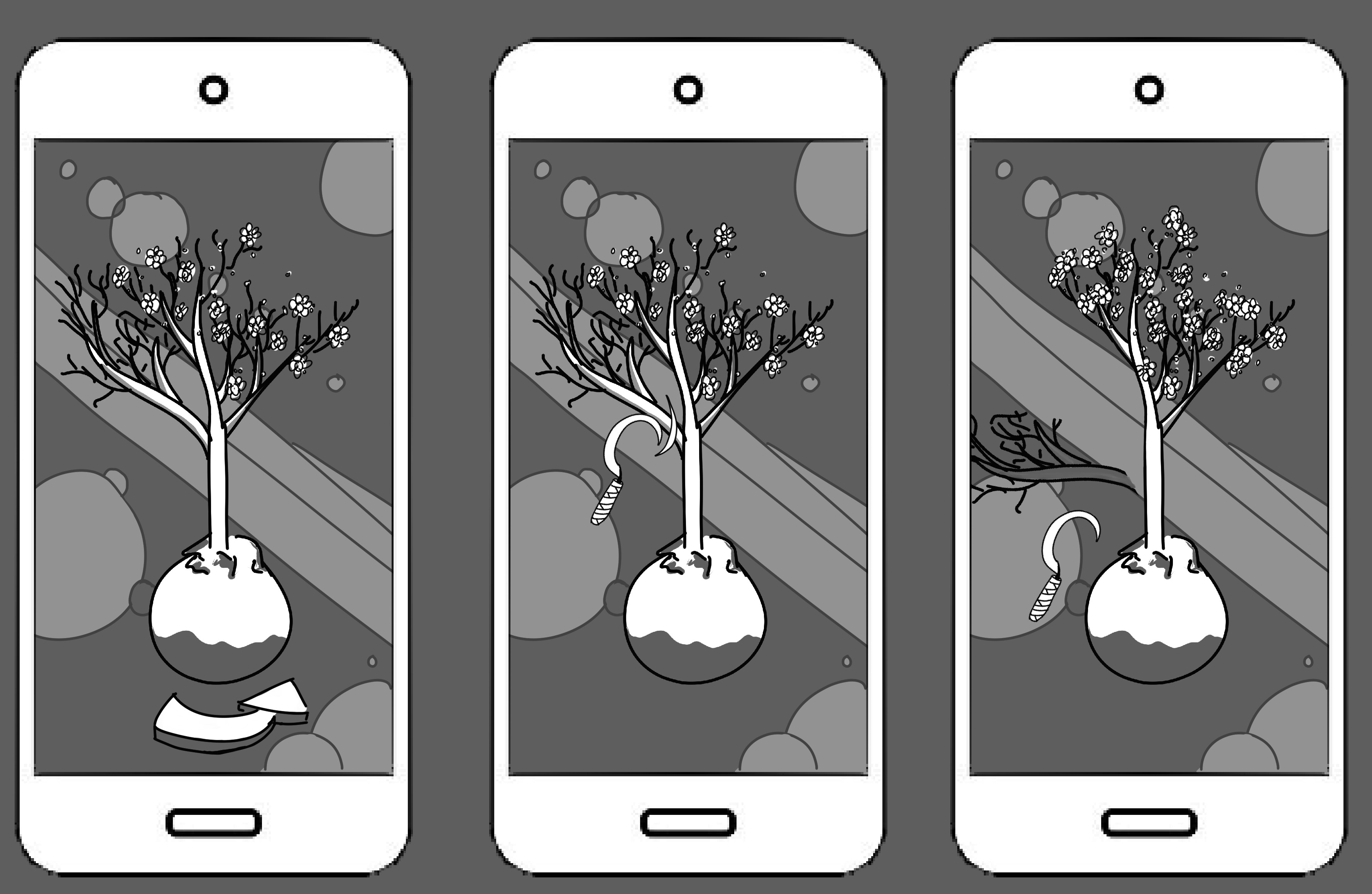 A tree pruning game