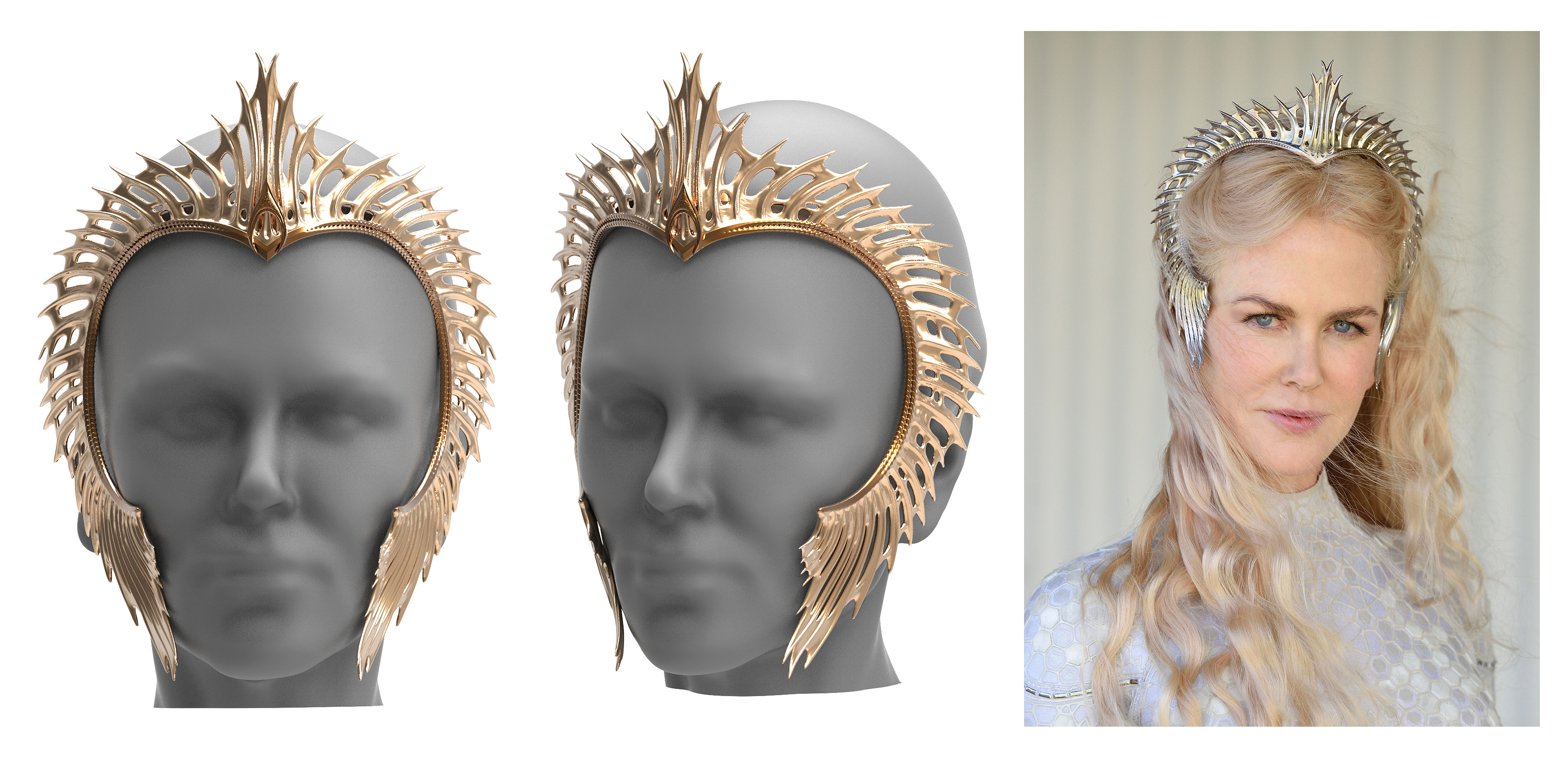 Queen Atlanna - crown 3d modelled and 3d printed