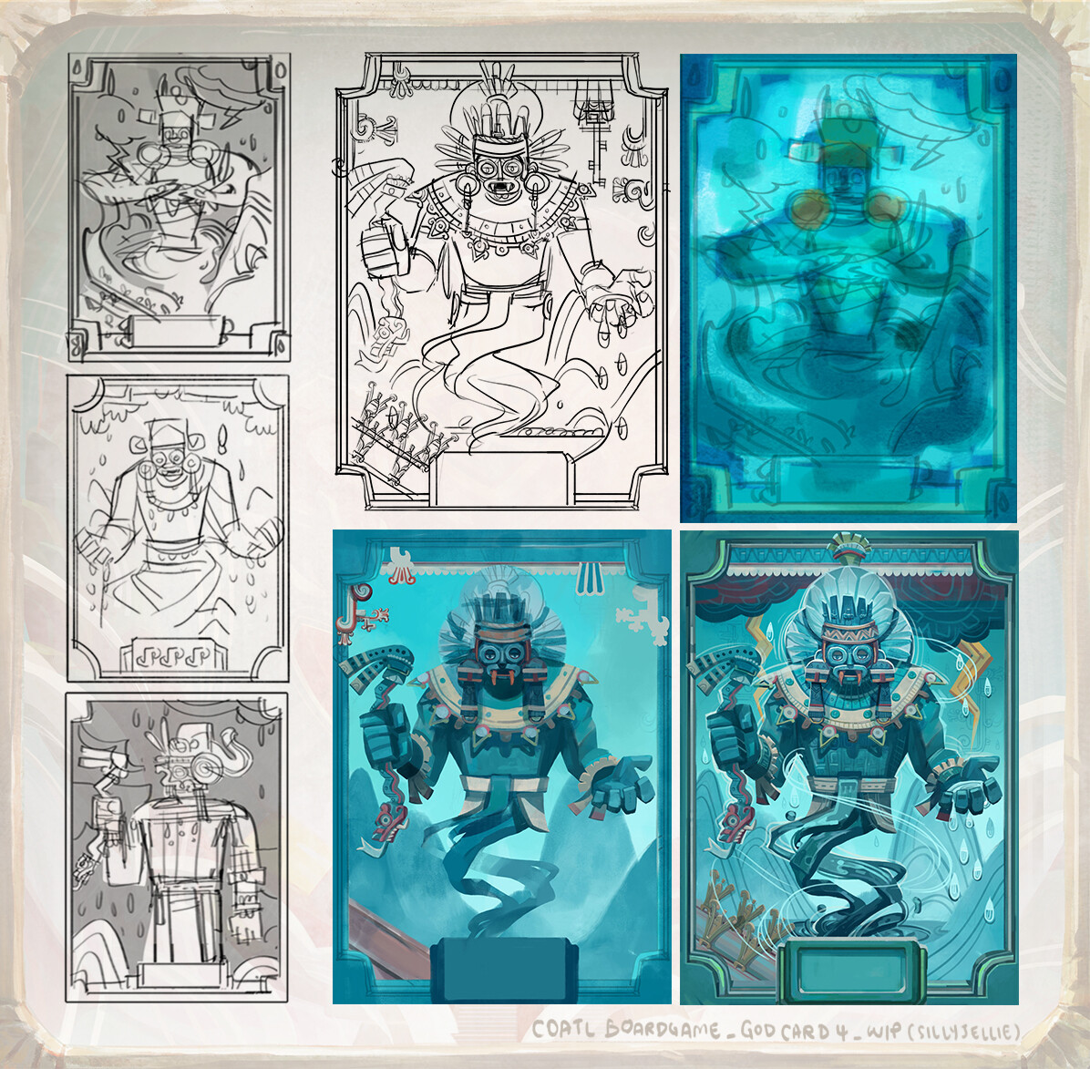 Tlaloc, Aztec god of rain, earthly fertility and water.  He was both worshipped as giver of life and sustenance, and feared for his ability to bring hail, thunder and lightning.