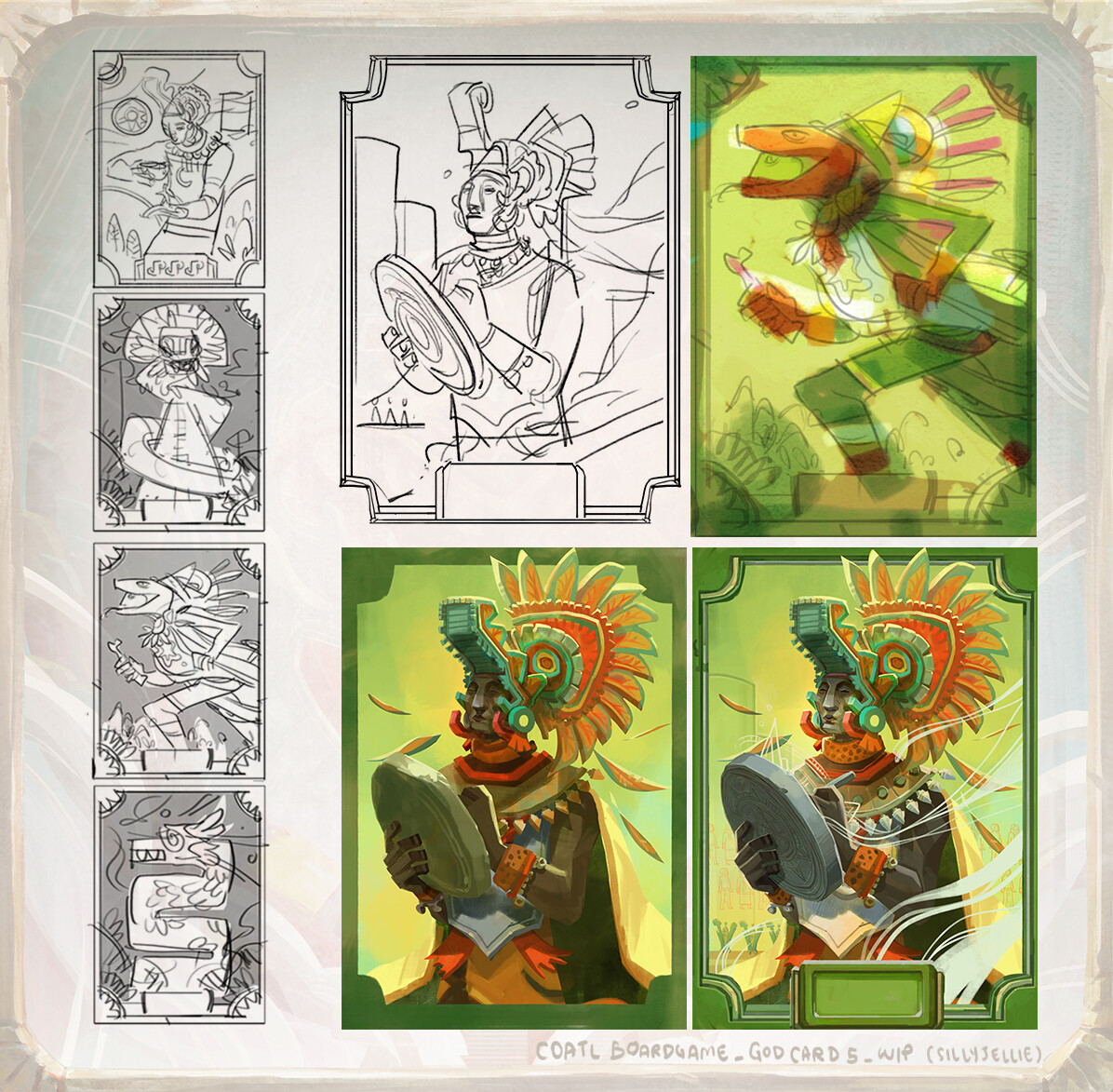 Quetzalcoatl, aka Feathered Serpent, is the Aztec god of wind, air, and learning. He is the inventor of books and calendar, giver of maize corn to man. He is the creator of present humans, made from grounded bones of previous humans mixed with his blood.