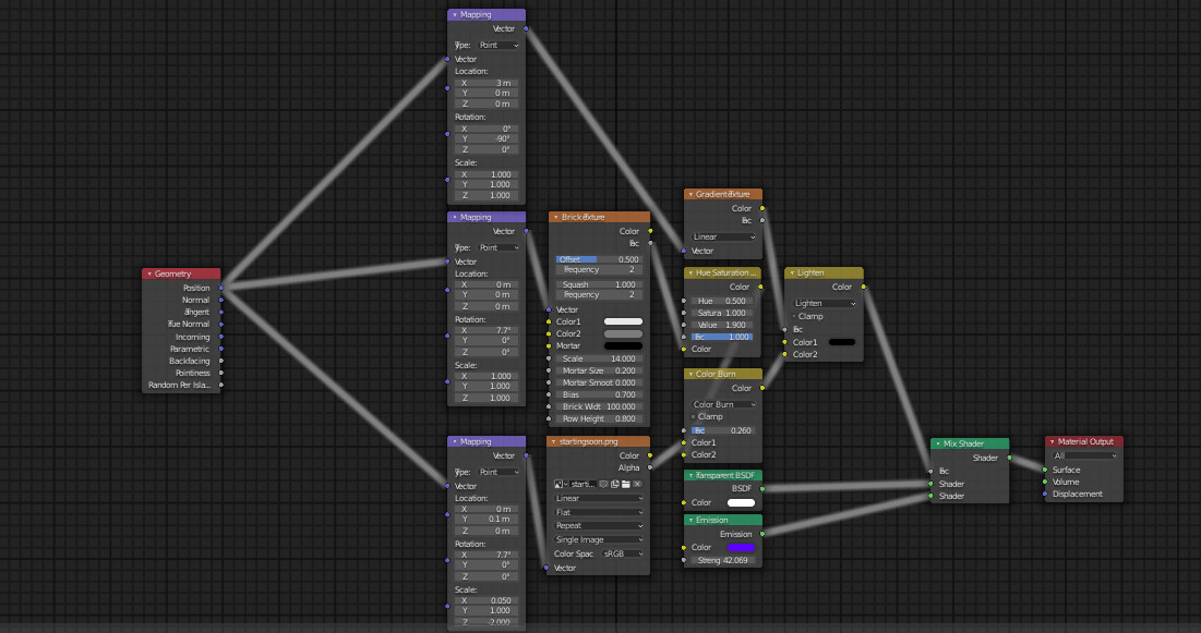 """The node graph for the """"stream starting soon"""" text."""