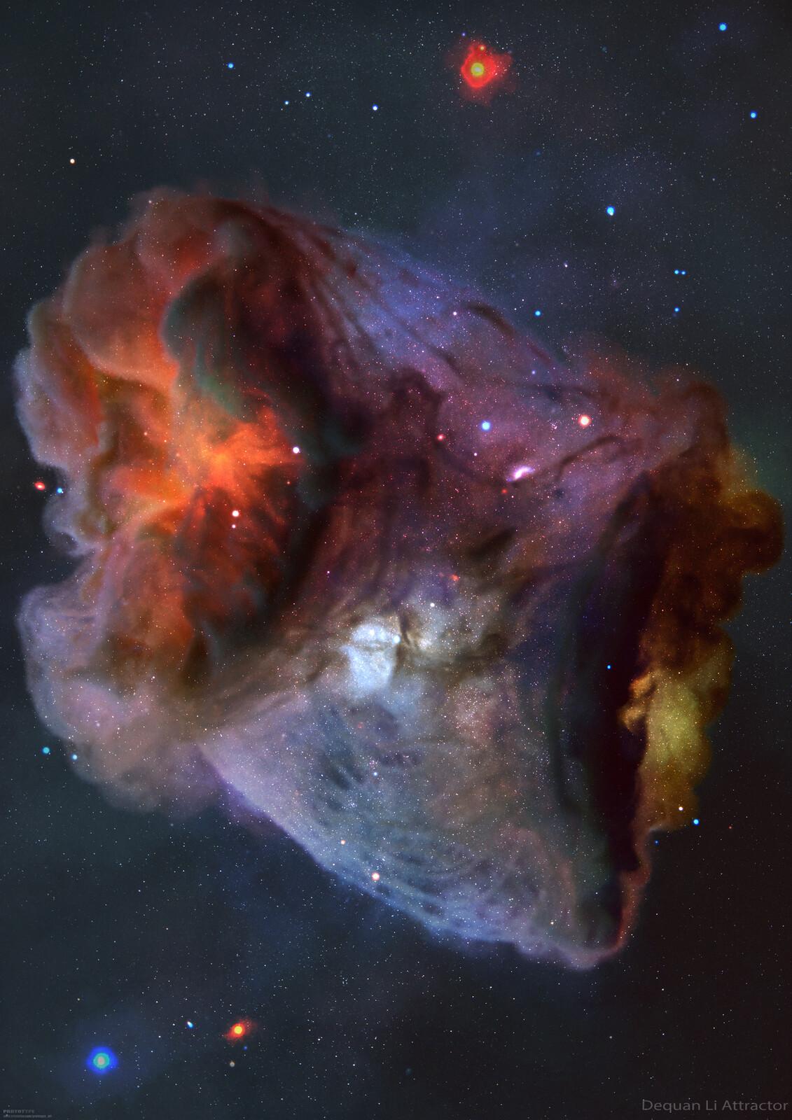 Strange Attractor Shaped Nebula