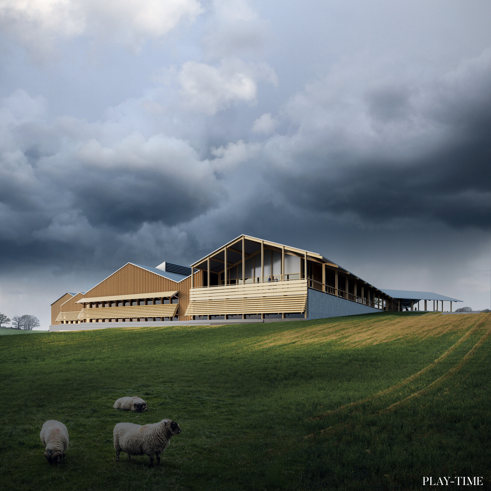 New Alki factory designed by vaumm arkitektura. Image by Play-time