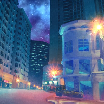 Claire leslie city street night