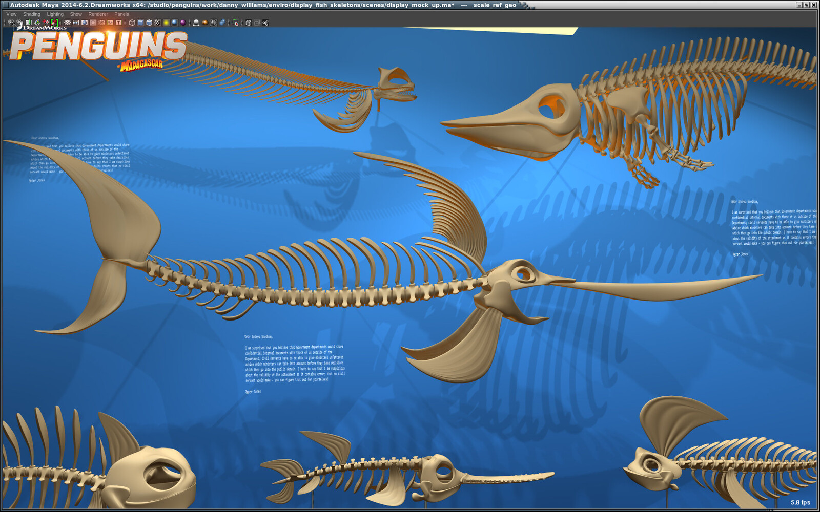 Penguins of Madagascar Aquarium Concept Sculpts