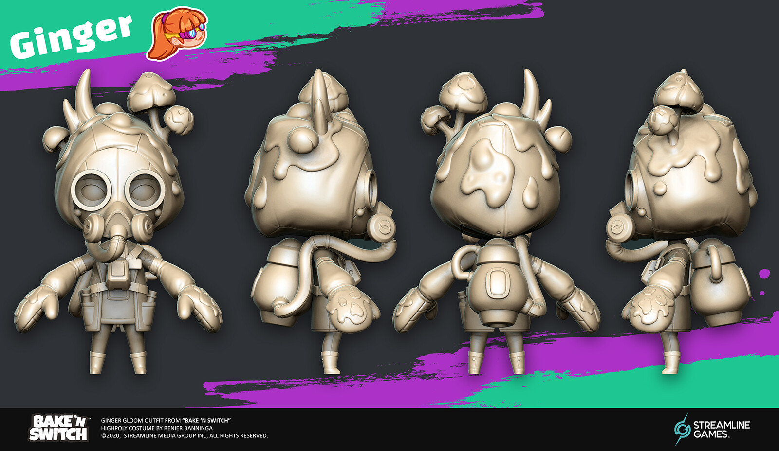 Model Sheet view of the Highpoly