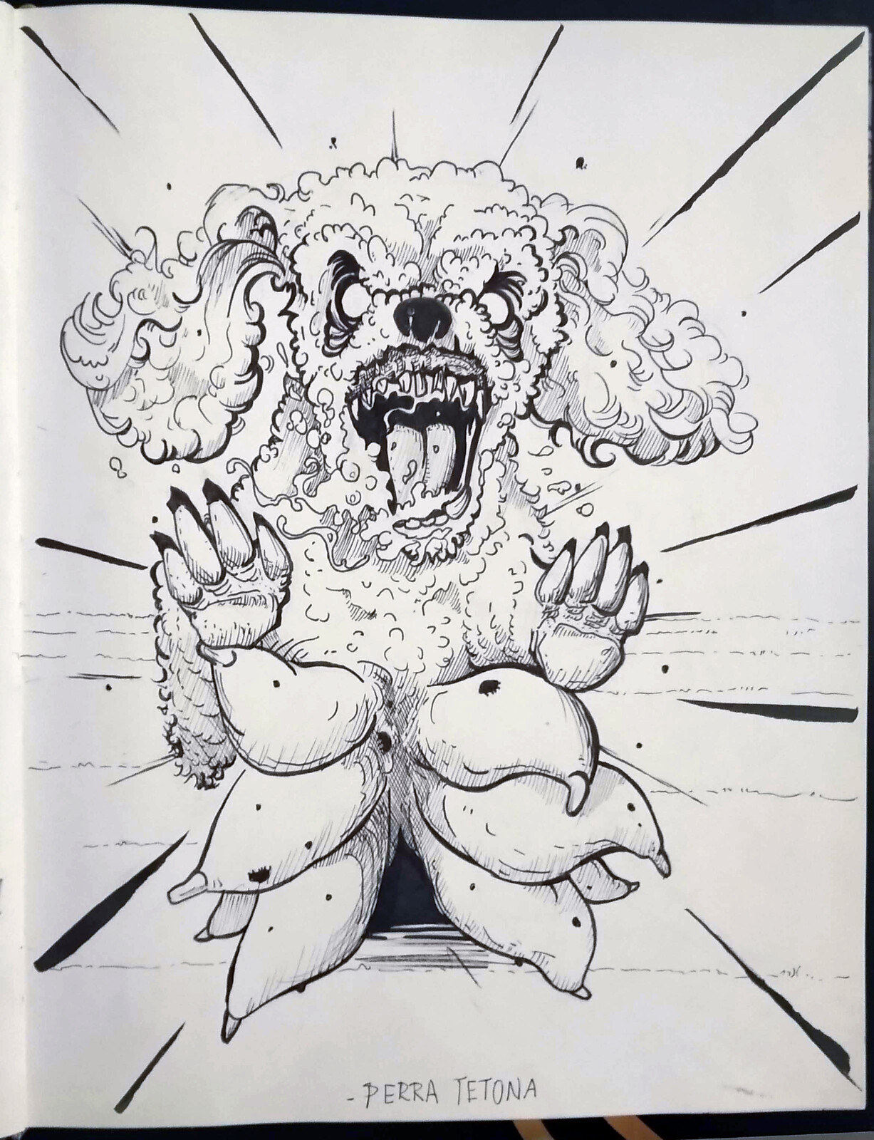 Perra Tetona (big tits dog) From Salto, Uruguay. It's a ugly old dirty dog who scares children who don't want to sleep, and puts its tits on the children mouth, forces them to drink, and this hipnotizes them, forcing them to sleep.
