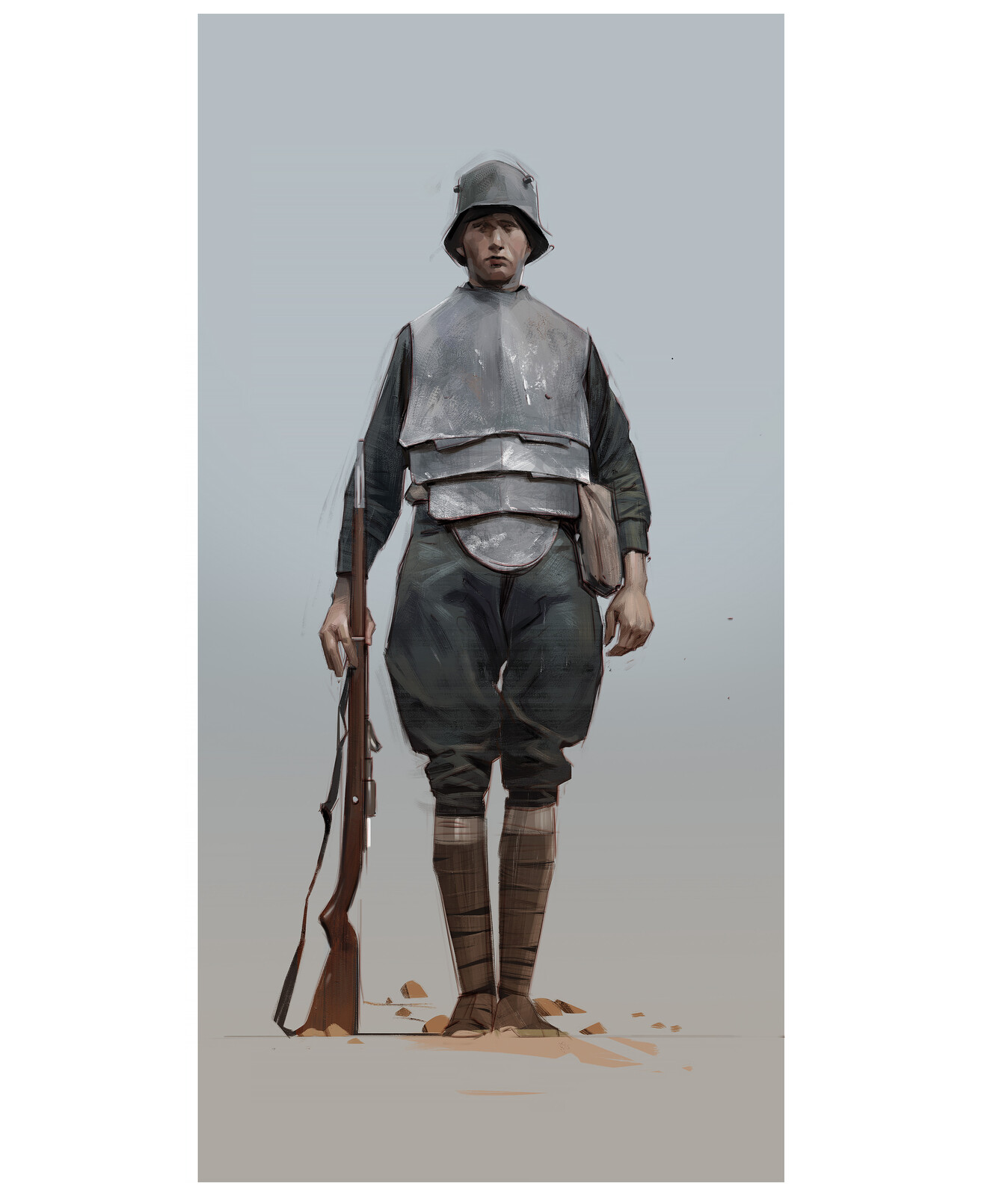 Found the gear on these WW1 trench troops really interesting, a photo study.