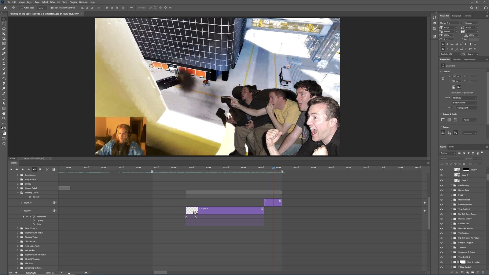 """The """"Gettin a Snippy, Part 3"""" visual effect within Photoshop video editor"""