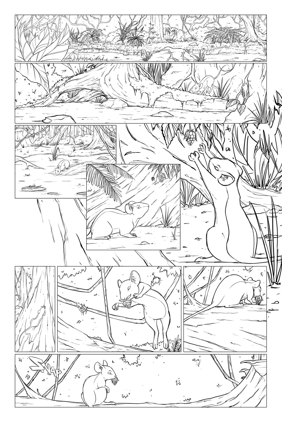 Will Not Bow Issue 4 - Page 1 - Line Art