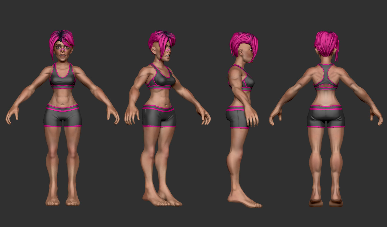 Highres sculpt wit polypaint in ZBrush