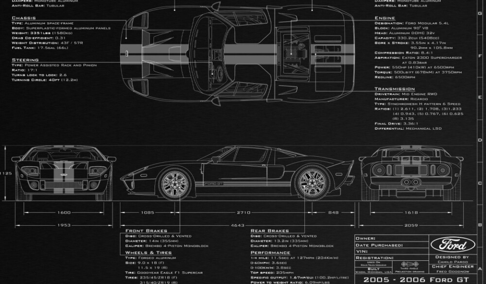 I used blue prints for the Ford GT to model detailed and accurate from all angles.
