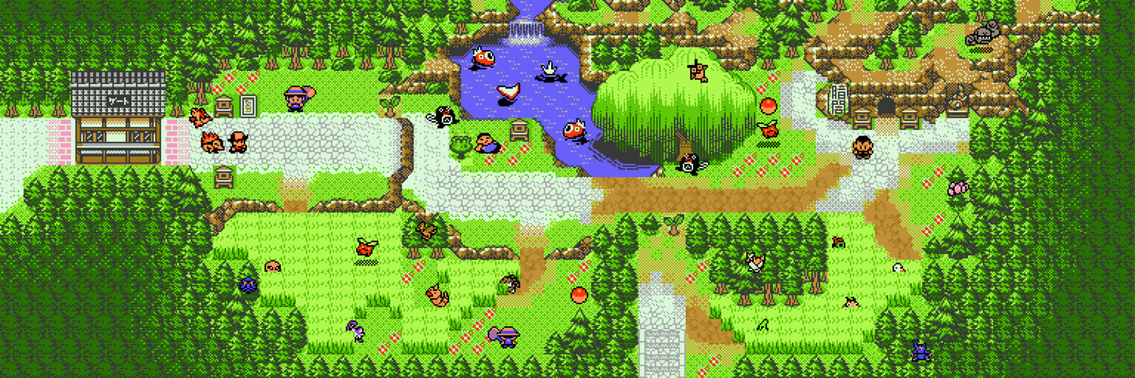 Route 31. Elaborated on the pond in the original game, and tried to make the cave entrance demand more attention.