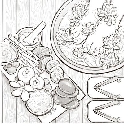 Diana cammarano bassa artstation chopsticks matite impaginato a4 sushi e pediluvio copia