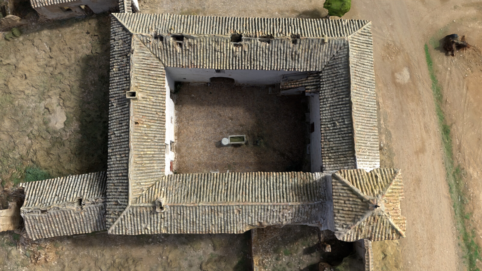 Top view of the monument