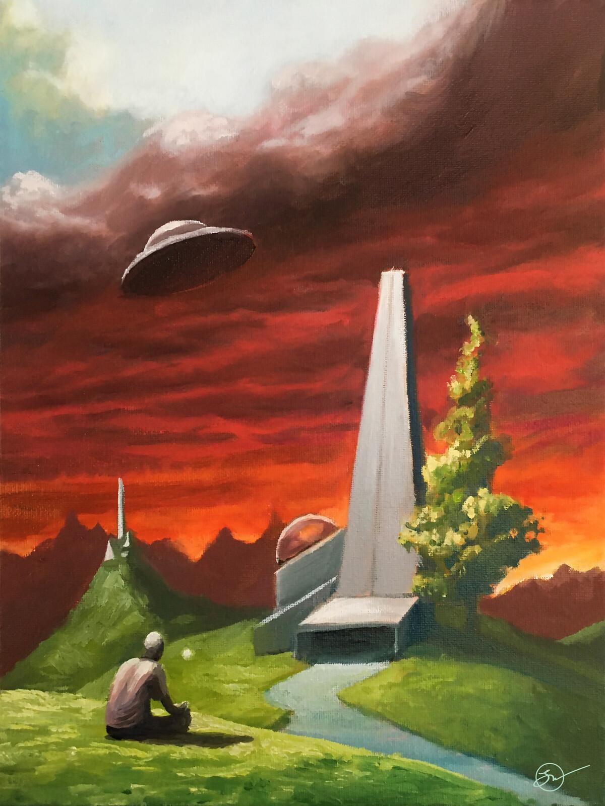 Future Encounters - oil on canvas