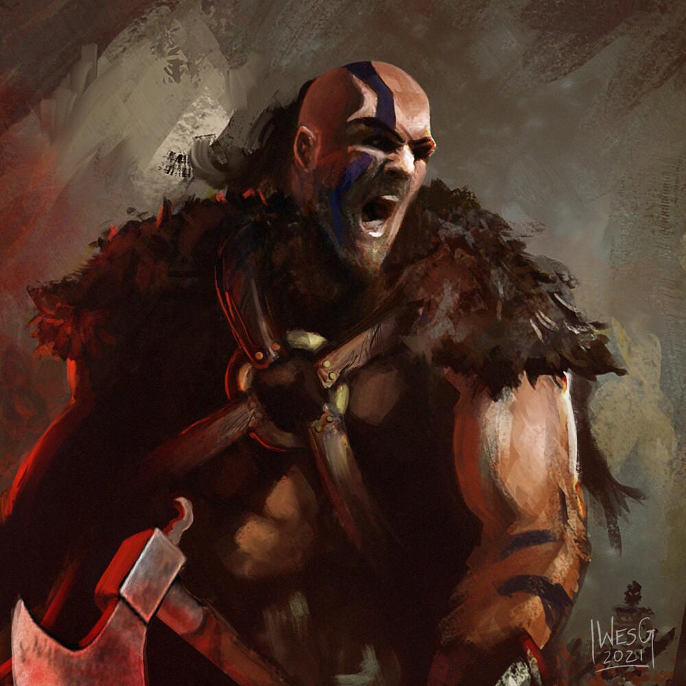 Barbarian (Diablo 2 Fan Art)