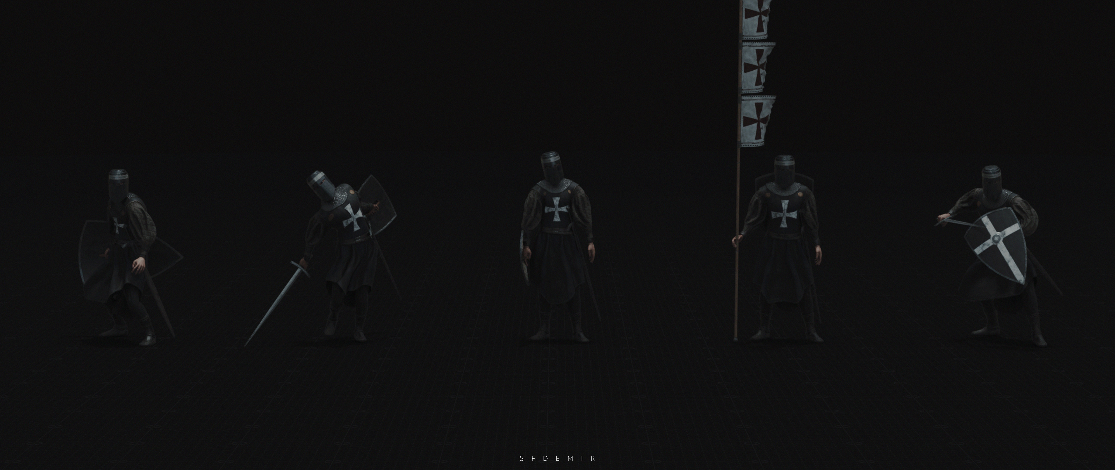 Templar Pose Pack 07