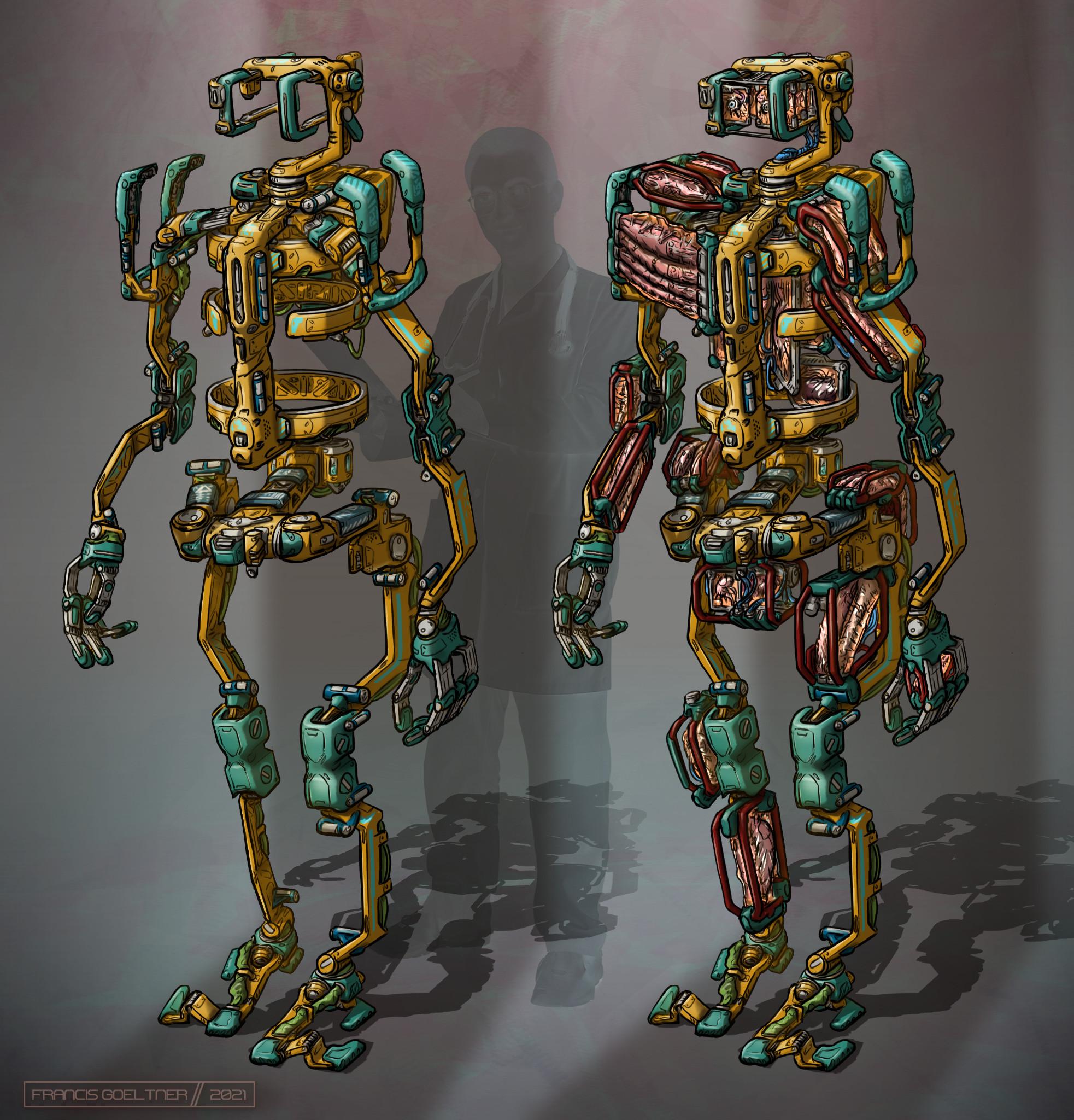 Transplant walker (yellow)