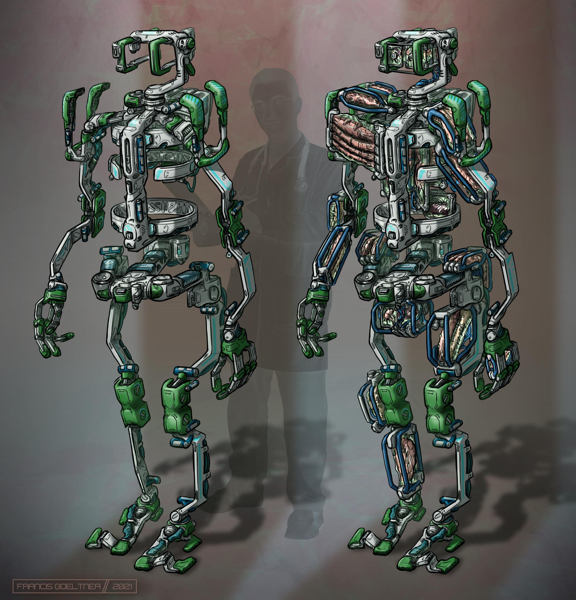 Transplant walker (white)