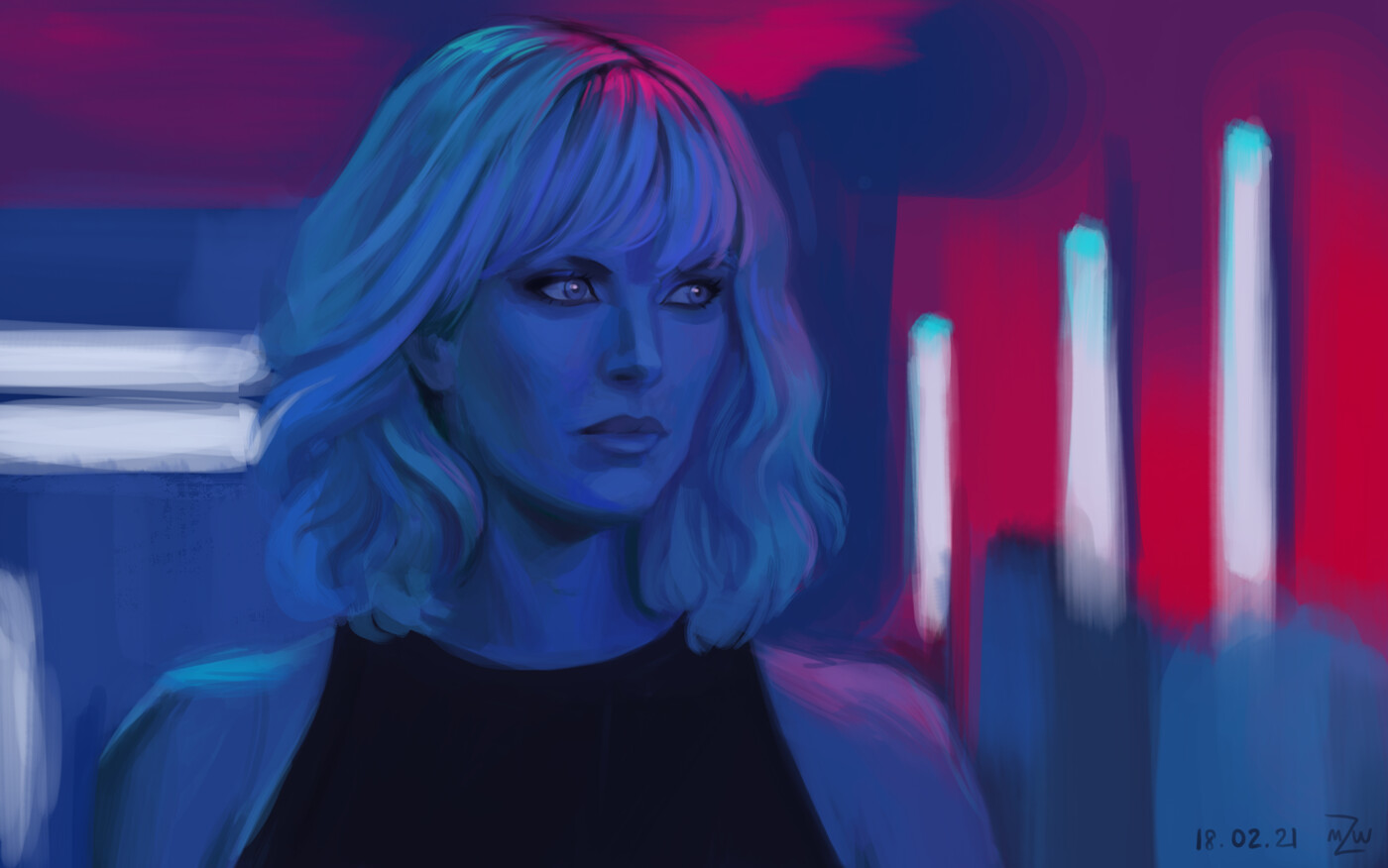 Charlize Theron from Atomic Blonde