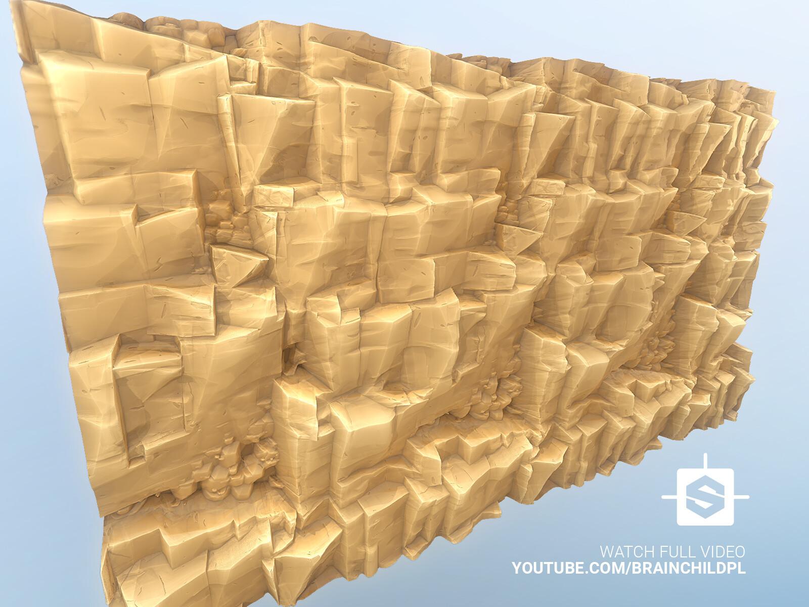 Cartoon Sandy CLIFF texture in Substance Designer | Stylised Game Texture in Substance Designer