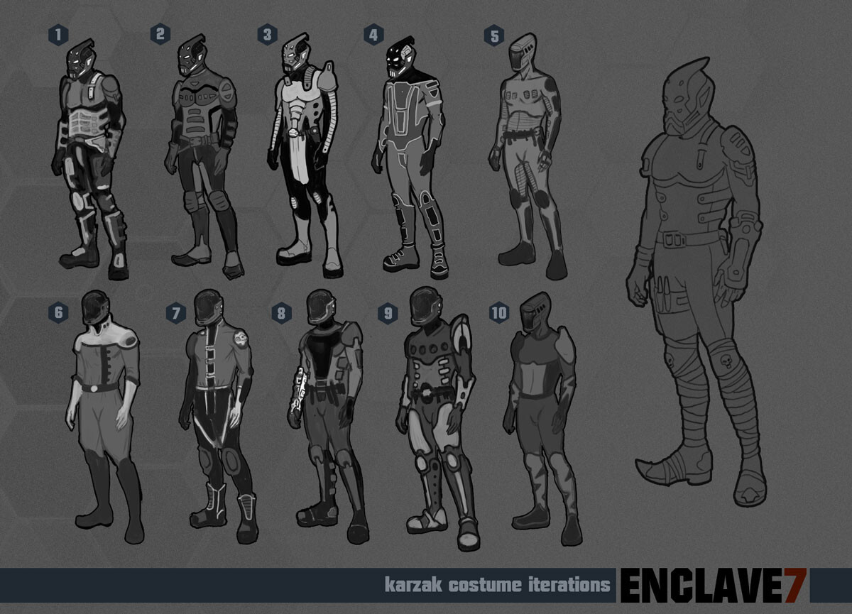 Costume Iterations and the final choice