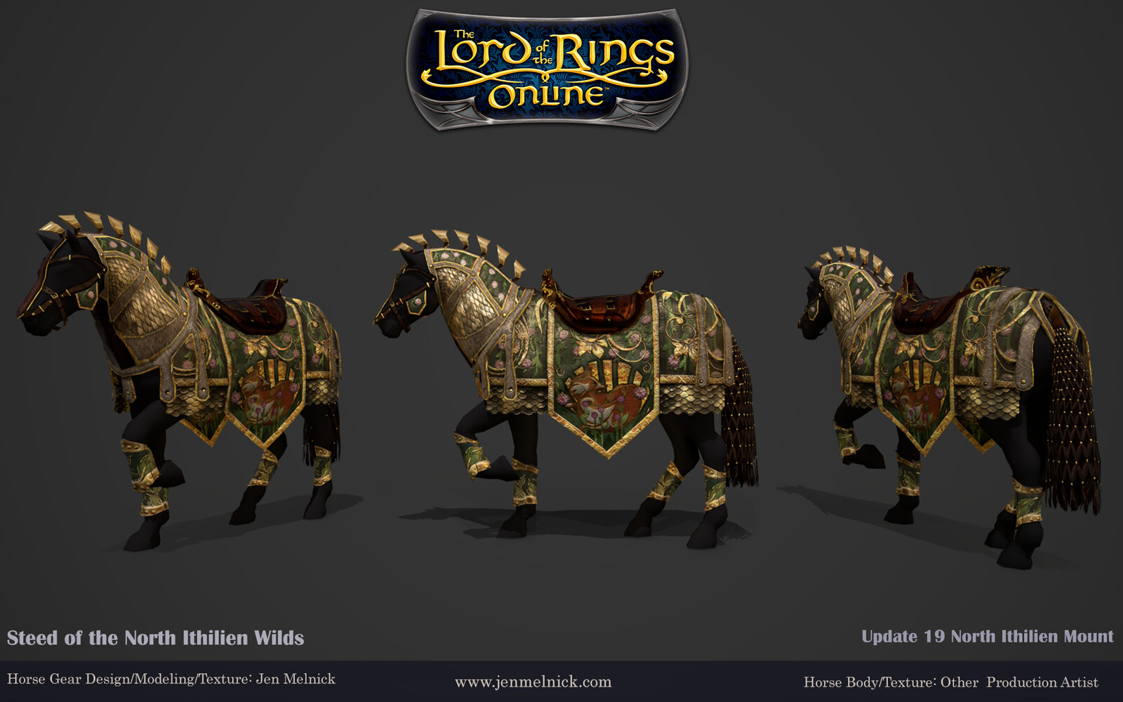 Update 19 North Ithilien Deed Mount Steed of the North Ithilien Wilds Marmoset Render