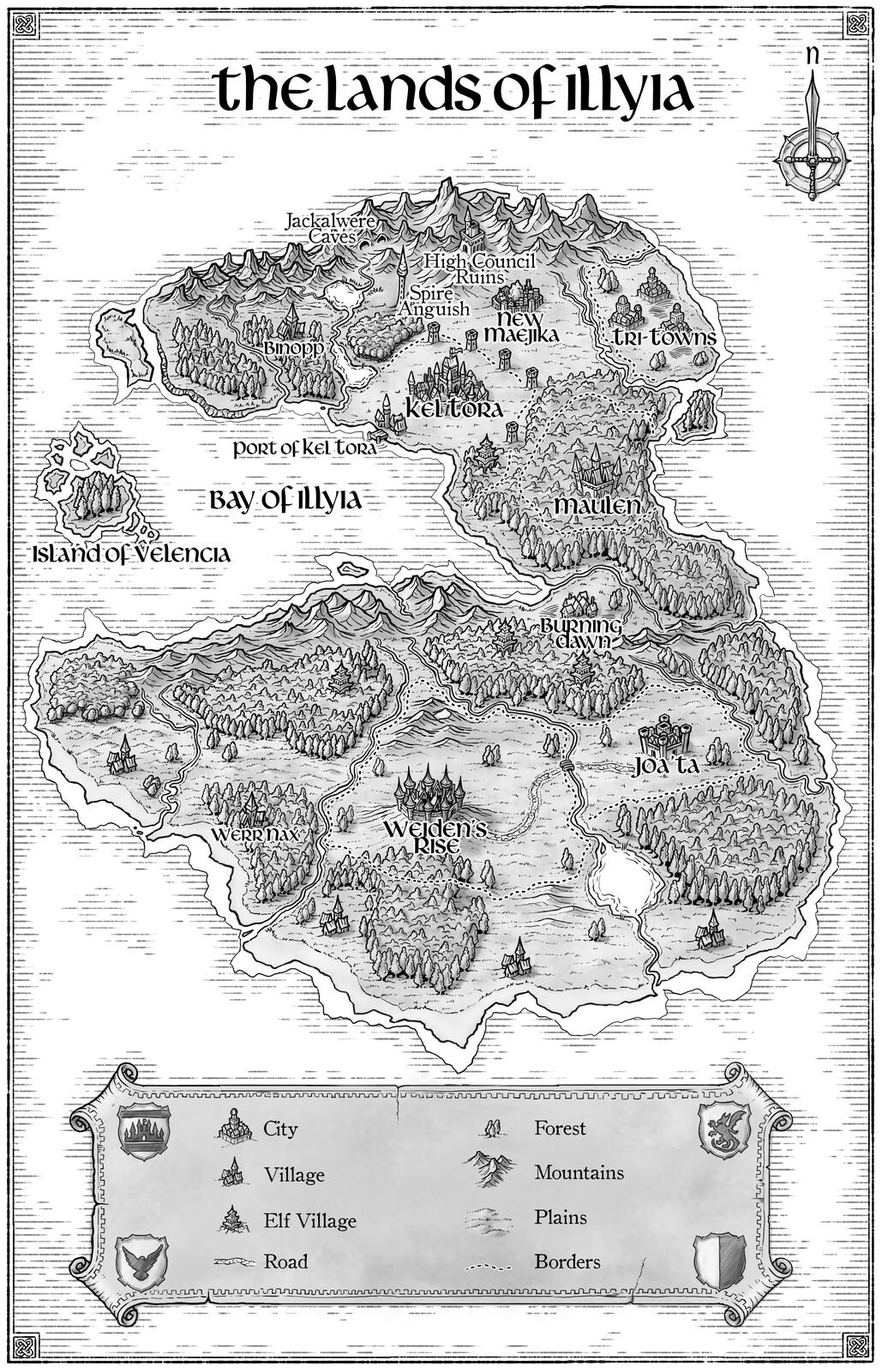 Worldmap for a novel