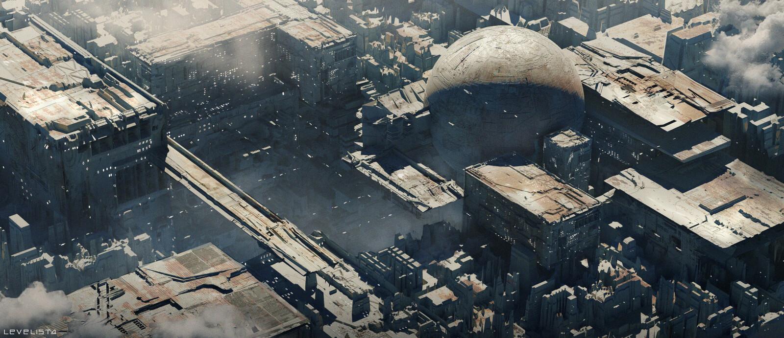 Post-Apocalyptic Sci-fi city practice