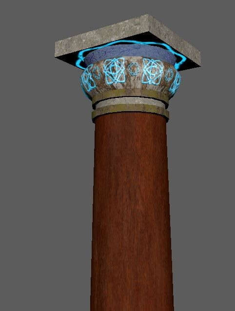 Close up of a pillar
