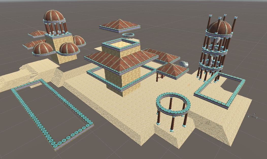 Temple layout: start