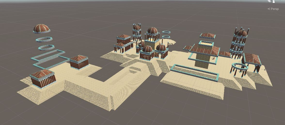 Temple layout: Pavement all placed