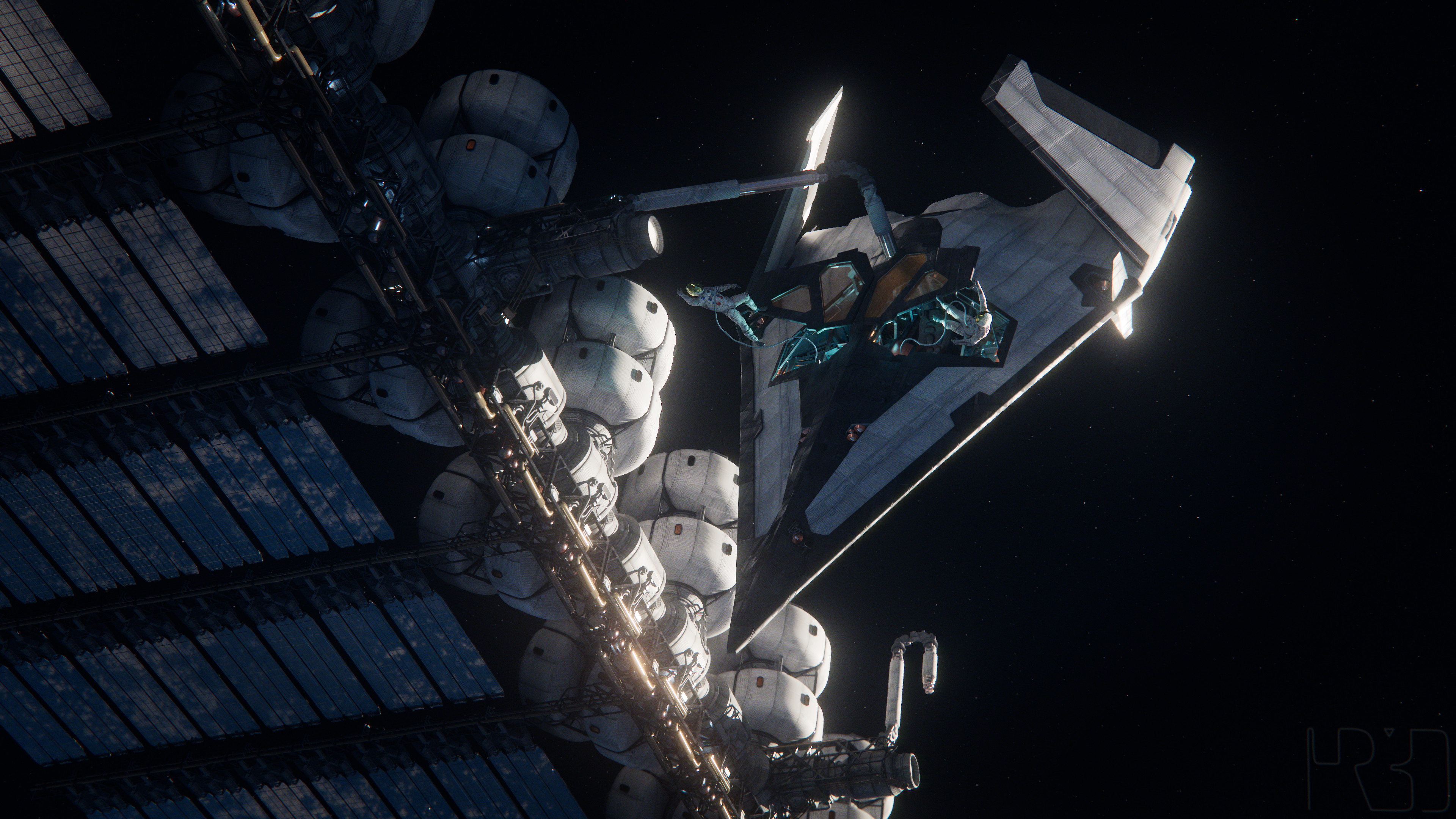 Docking at the space station