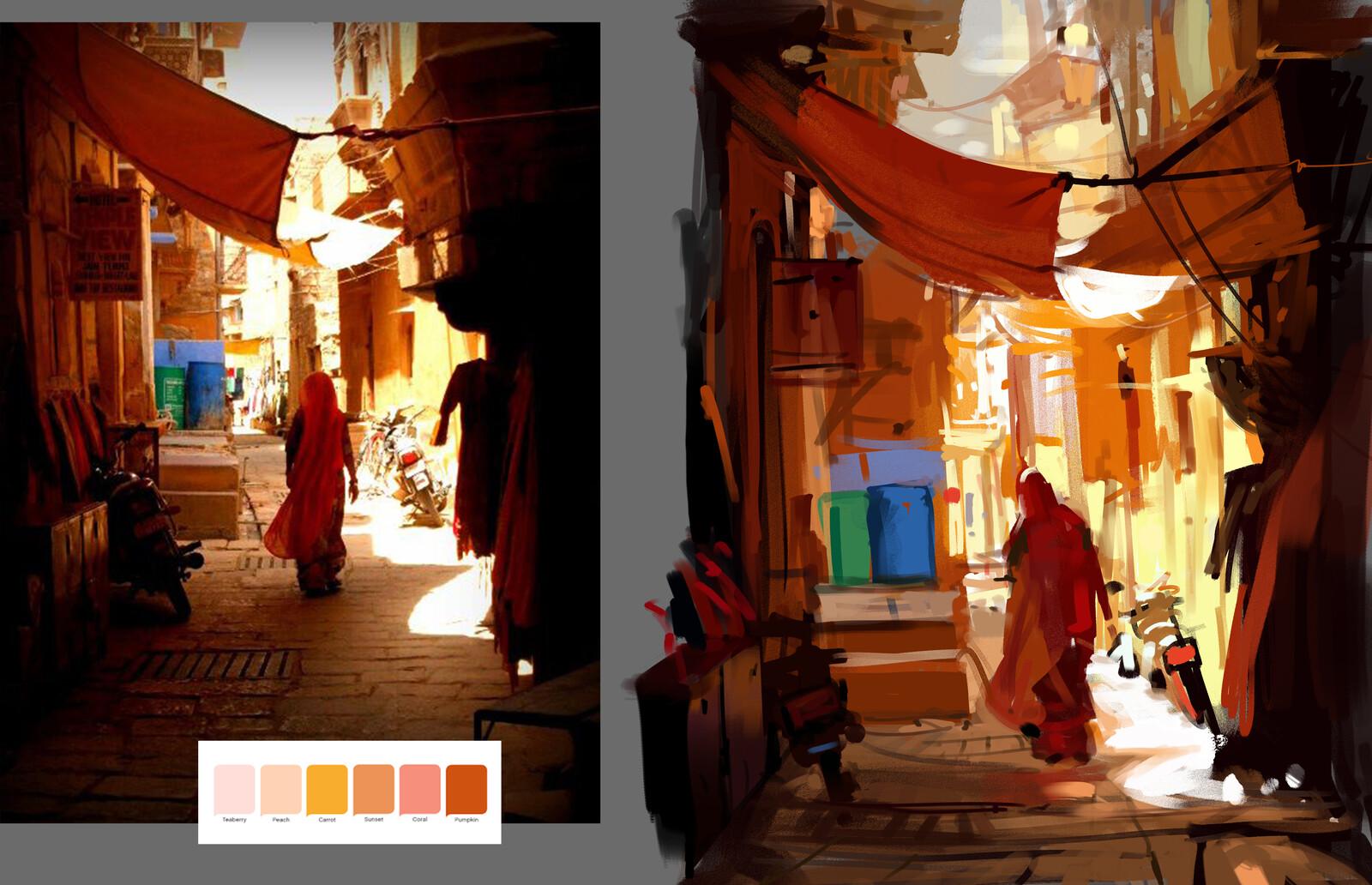 warm color study 1