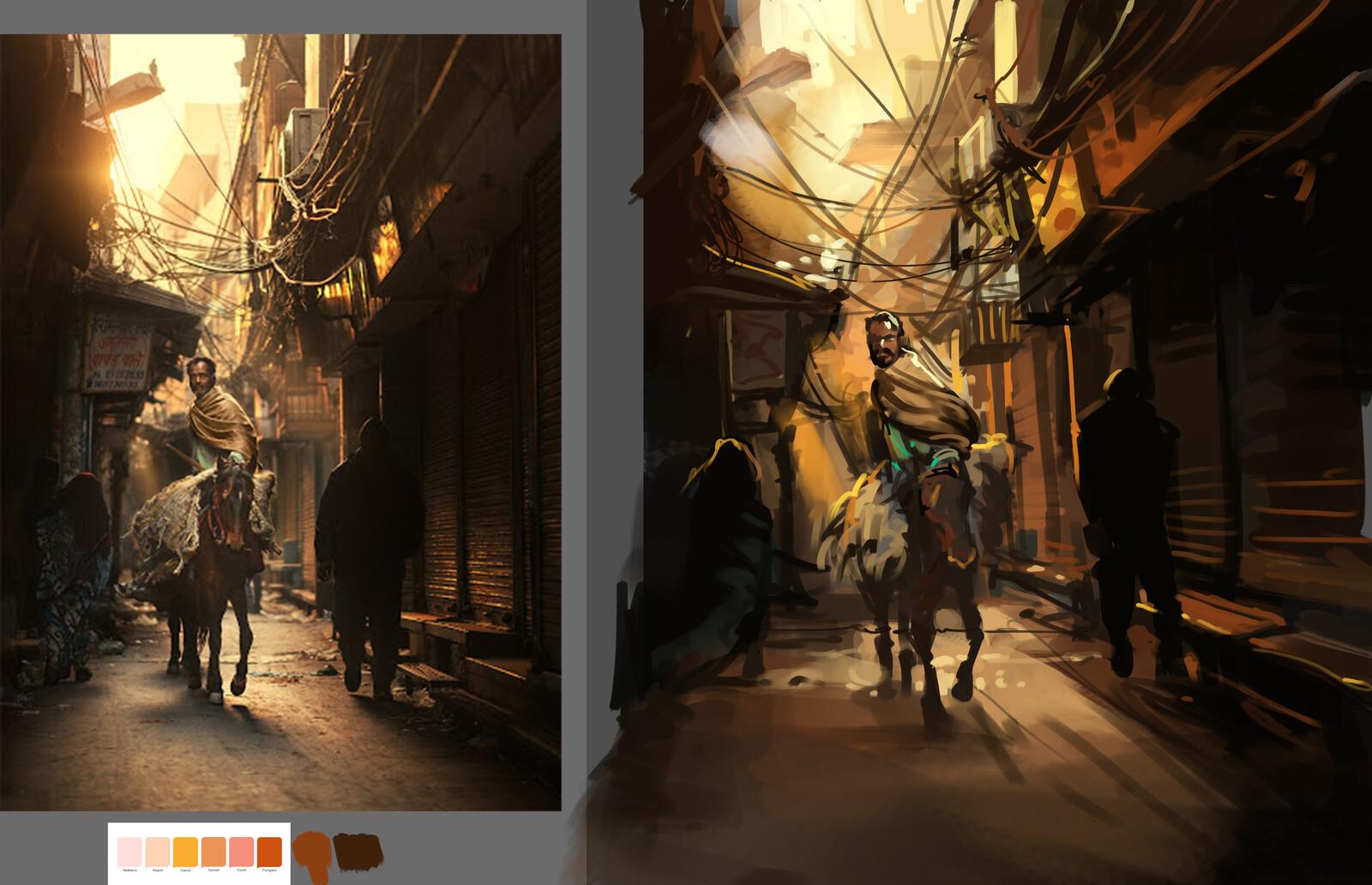 warm color study 2