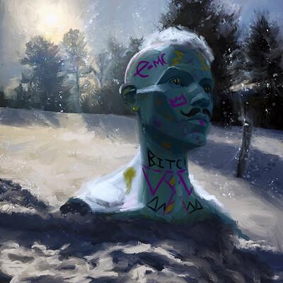Snowstatue