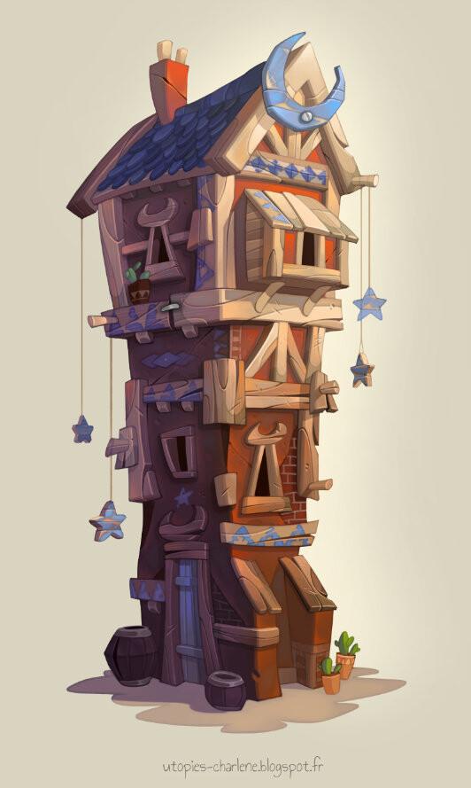 Concept art by Charlène Le Scanff