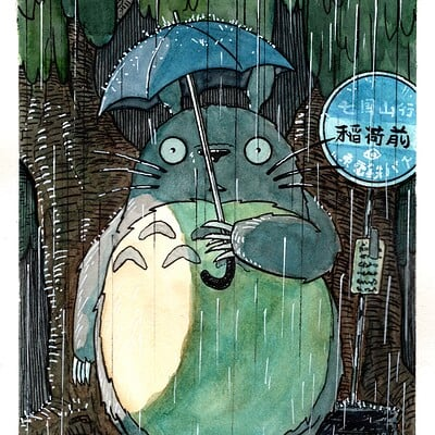 Randy haldeman totoro final with rain 2