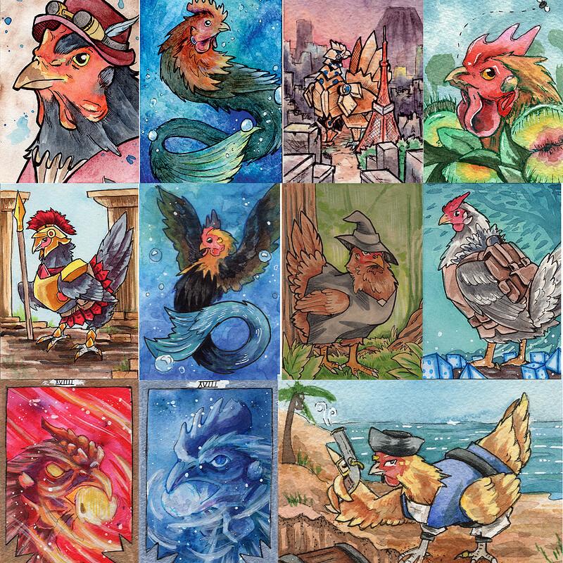 Chicken Sketch Card Collection