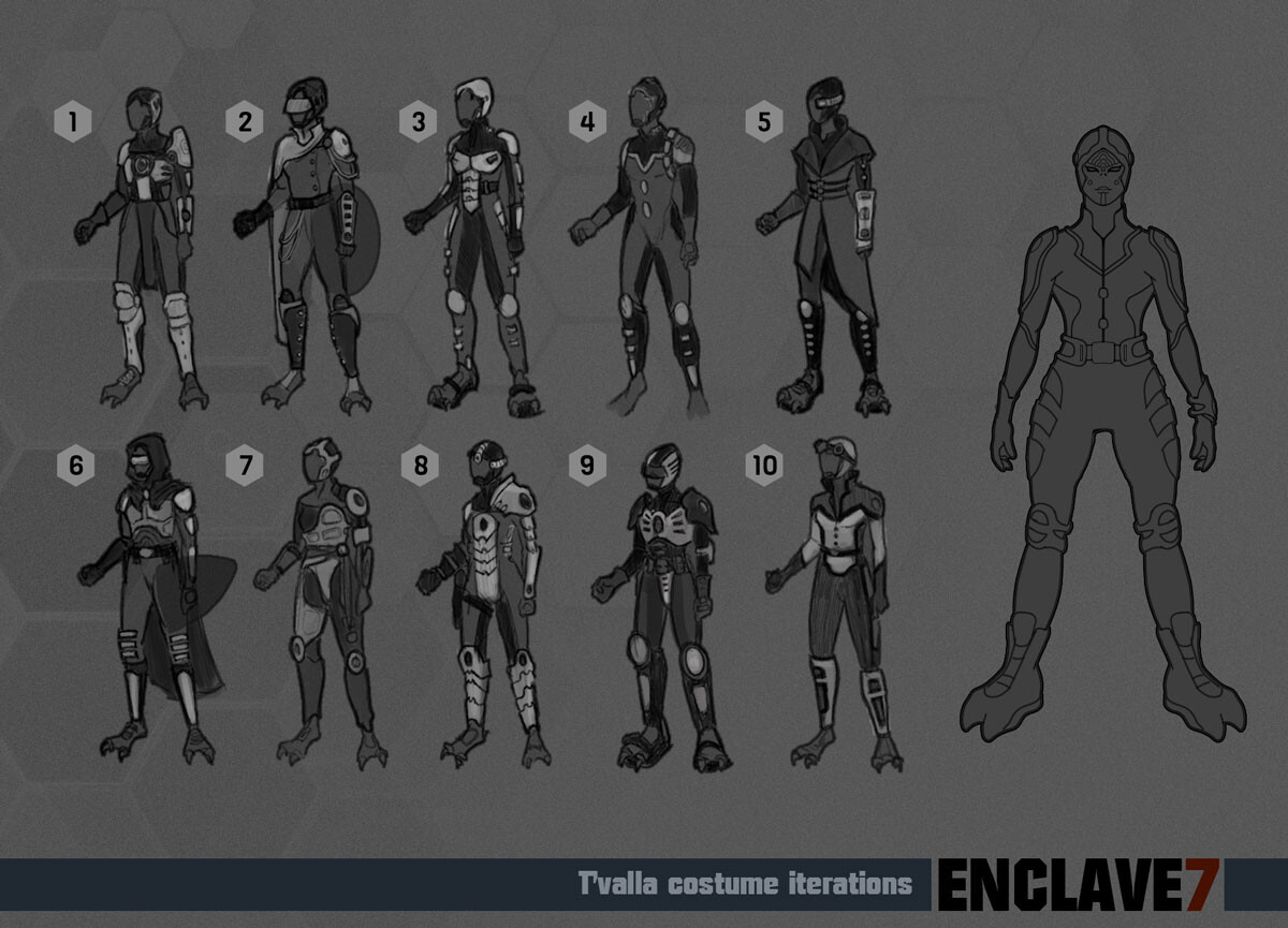 Costume iterations and final