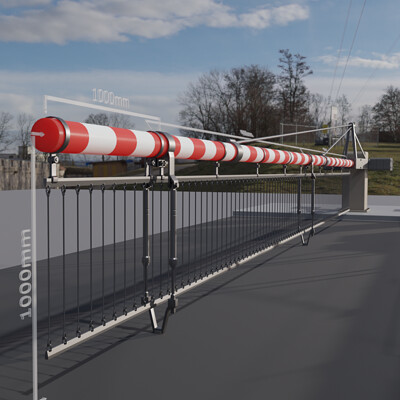 Dennis haupt 3dhaupt railway barrier construction kit modeled and animated by 3dhaupt in blender 2 91 cycles render engine 5