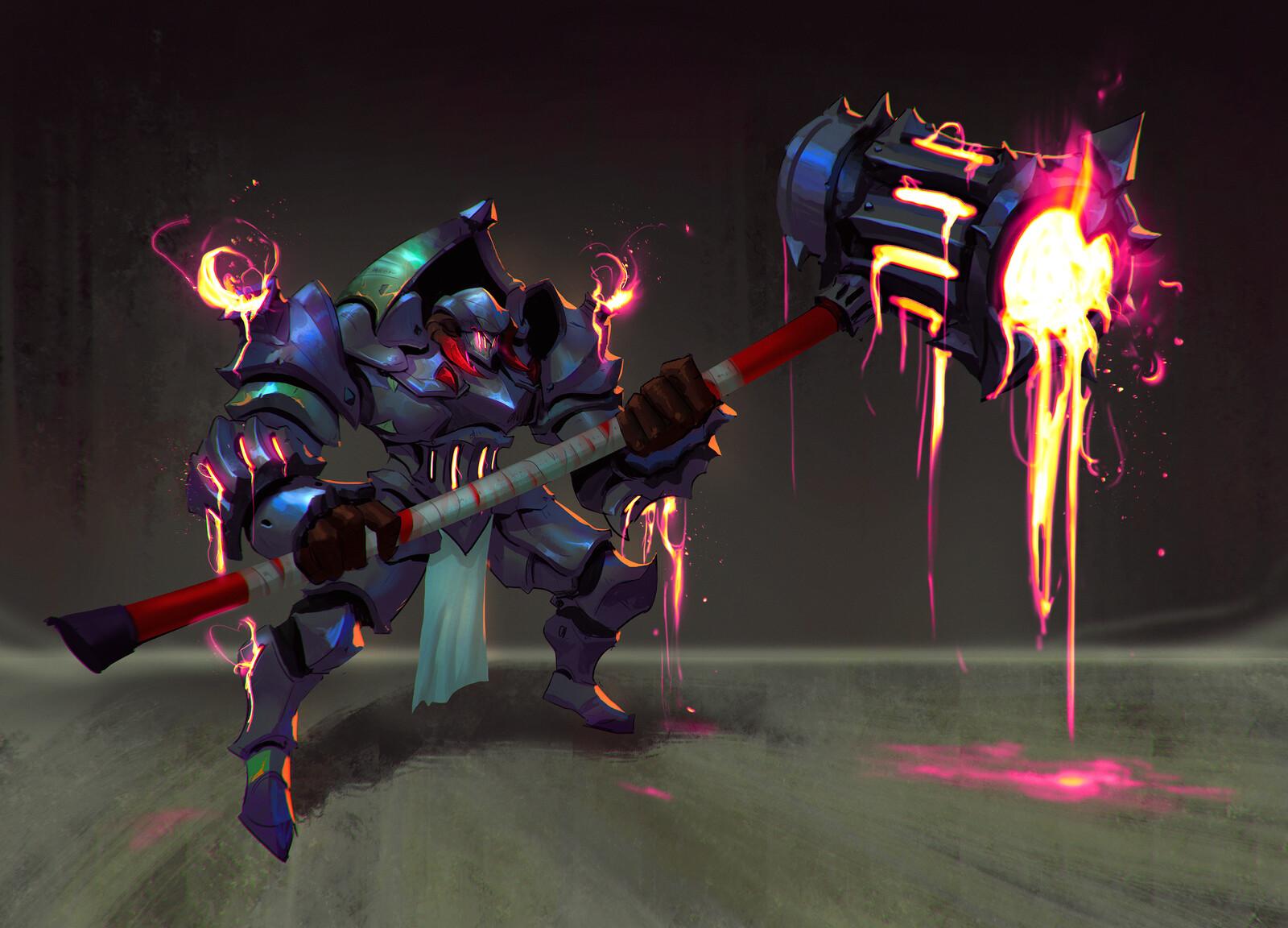 Lava Knight (Character design course)