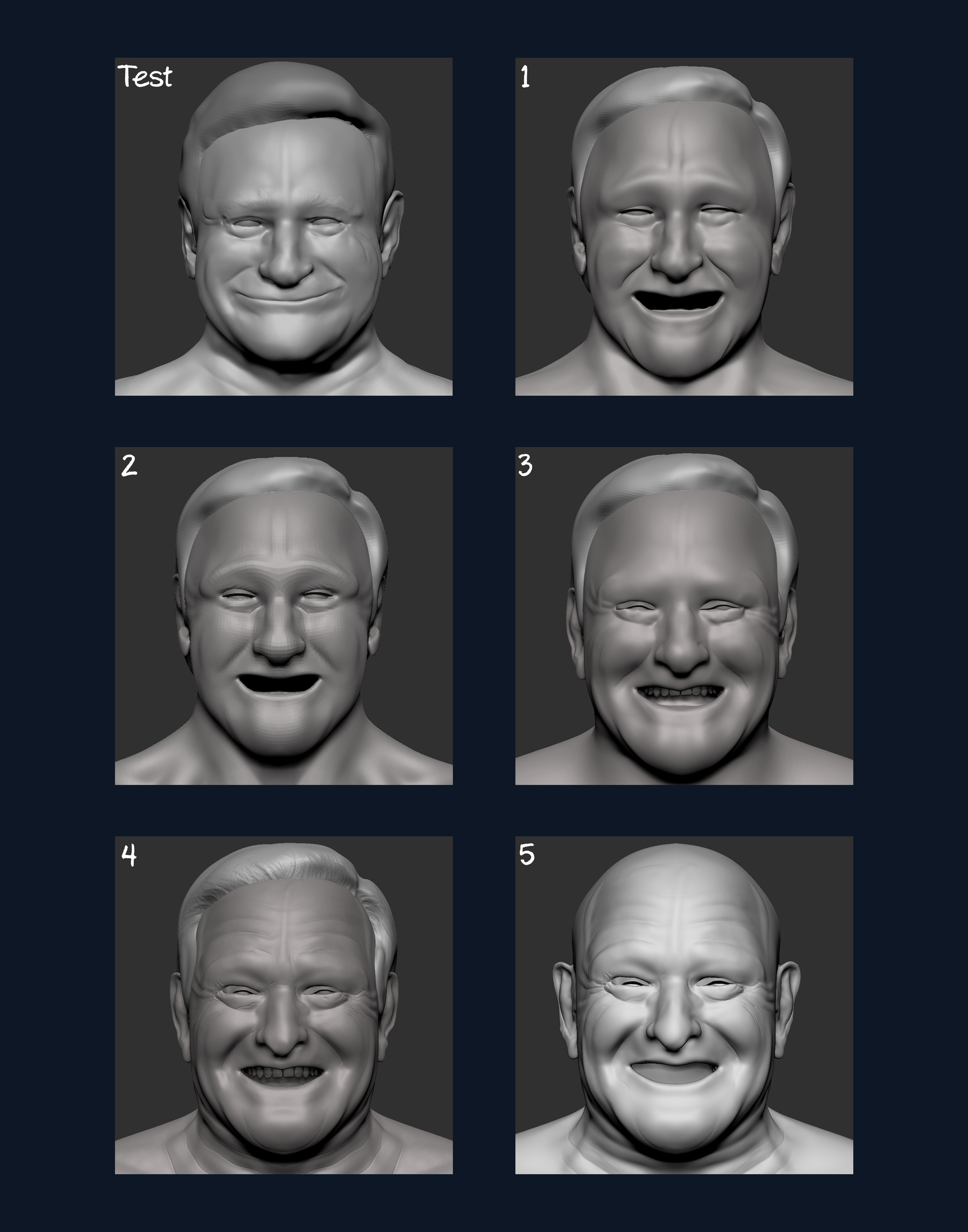 progression of faces (I didnt save as many as I would have liked)