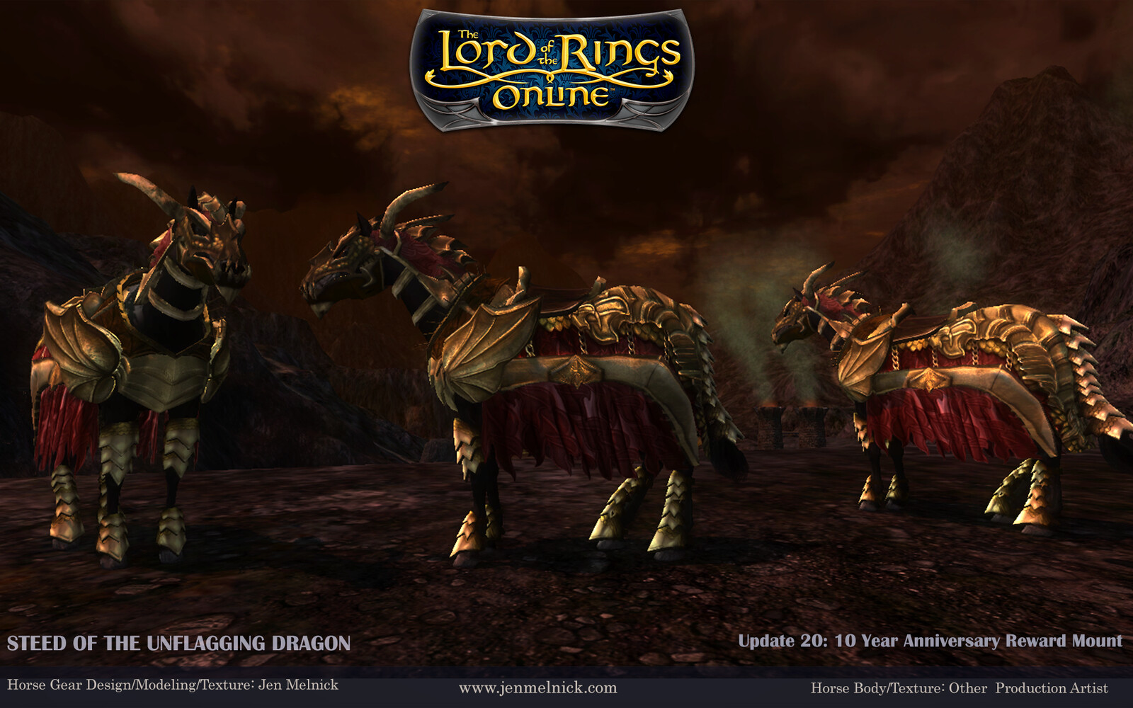 10 Year Anniversary Mount (2017) Steed of the Unflagging Dragon In-Game Screenshot