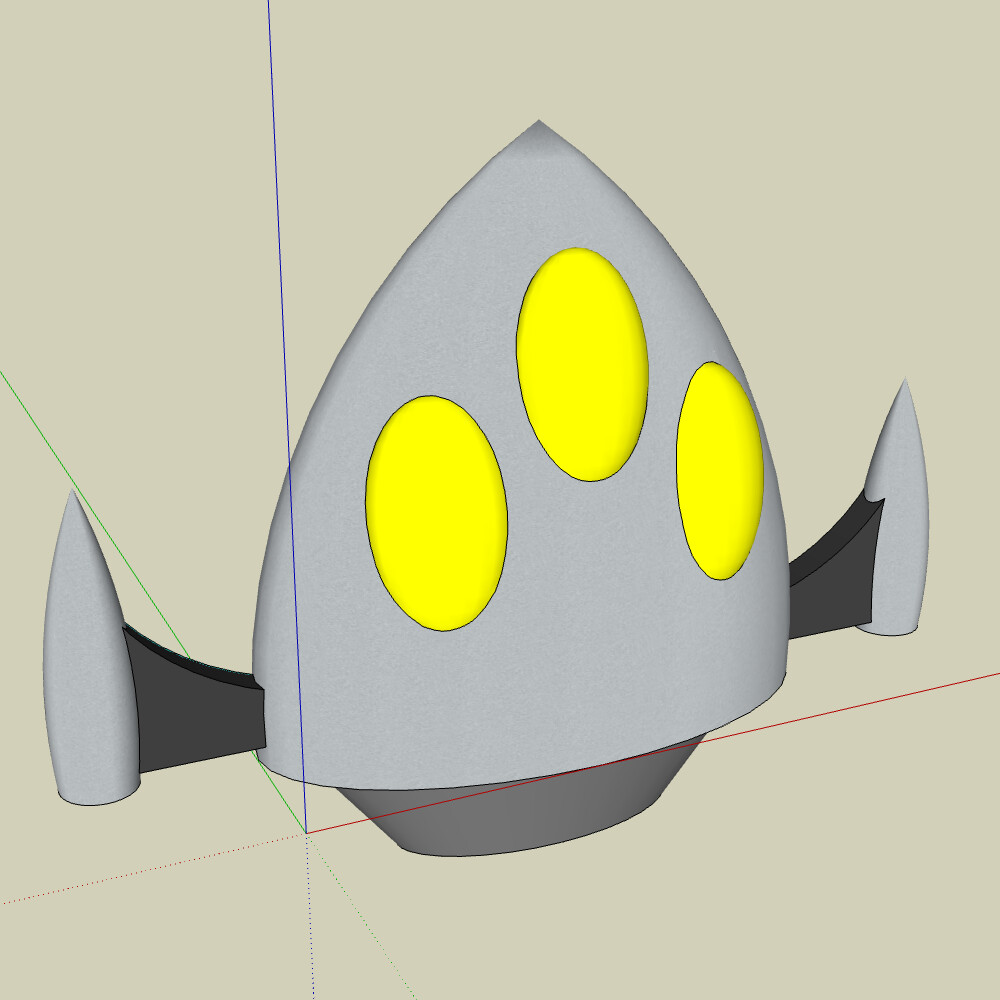 Close-Up in SketchUp.  Not pictured: the rest of the ship.