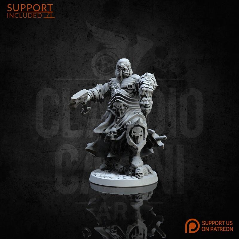 Fantasy Character, Male, Half Orc Barbarian STL