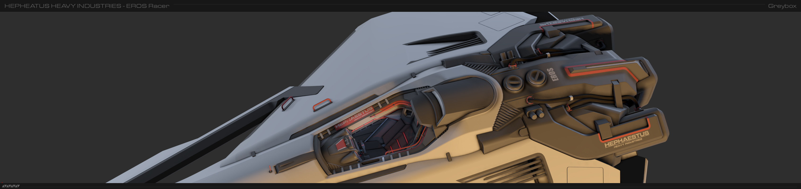 A WIP shot in Max of the exterior almost finished, with no POMs or decals applied.